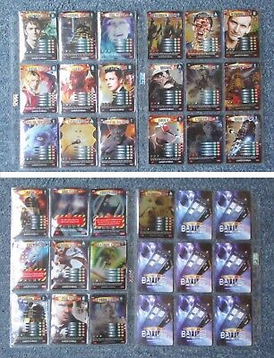 Dr Doctor Who Battles in Time EXTERMINATOR Complete RARE 28 Card Set VGC