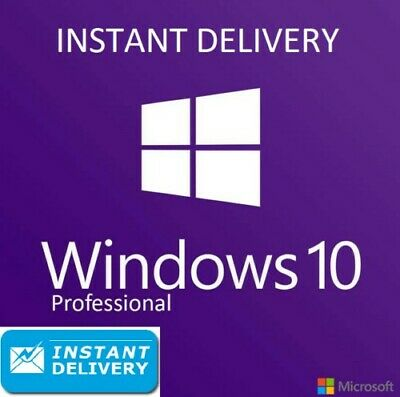 Microsoft Windows 10 Pro Professional 32/64bit Genuine License Key