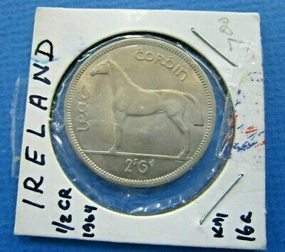 1964 Irish Half Crown Coin  High Grade Original Luster Horse Harp Ireland Unc