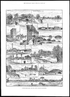 1884 EAST LONDON WATER COMPANY River Lee Finsbury Park Buckhurst Hill (131)