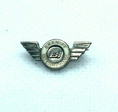 Vintage Braniff International Airlines Service Pin Sterling Silver Flying