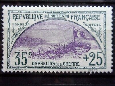 France N° 152 Orphelin Neuf Gomme Sans Charniere Ni Trace Signe