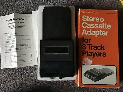Realistic Stereo Cassette Adapter 8 Track Players w Box Good Cond