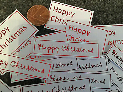 Card Making Christmas Captions X 30 Embellishment/clearout