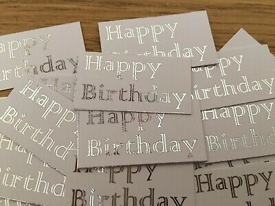 Happy Birthday X 20 Banners/embellishments/toppers/card Making