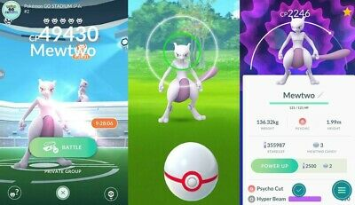 Pokemon Go 🔥 Mewtwo Capture 🔥 BUY 2 GET 1 FREE 🔥 Read Description ✅ Raid T5