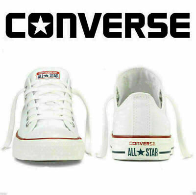 Converse White Low Top Men Womens Unisex All Star Chuck Taylor Trainers Shoe