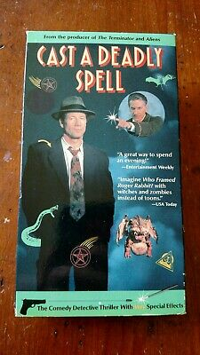 Cast A Deadly Spell Vhs Tape Movie Not On Dvd Oop Detective Thriller