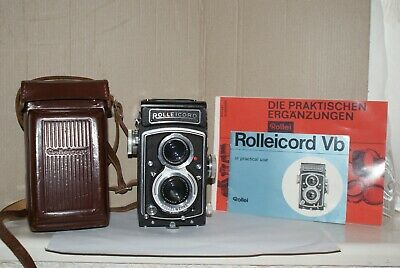 Rollei Rolleicord Vb Type 2 with Xenar 75mm F3.5 Lens With Case & Booklet