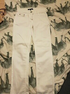 Girls Dkny White Trousers Age 5