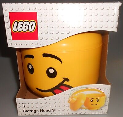 Yellow Lego Storage Head S Container Case Face W Tongue 2018