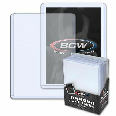"200 3"" x 4"" BCW Card Topload Holders (toploaders) AND 200 BCW Penny Sleeves"