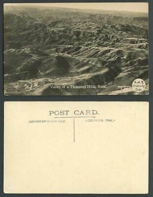 South Africa Valley of A Thousand Hills Natal, Mountains Old Real Photo Postcard