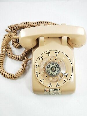 Vintage 1966 Western Electric G3 Beige Rotary Dial Desk Telephone C/D 500