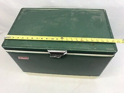 Vintage Coleman Green Metal Cooler/Ice Box for Camping/Outdoors #1
