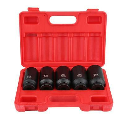 "5pcs 1/2"" Drive Deep Impact Socket 30-36MM Tool Set Metric Garage Workshop Tools"