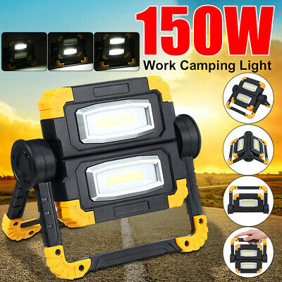 150W LED COB Work Light USB Rechargeable Hand Emergency Camping Flood Spot Lamp
