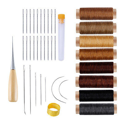 Leather Working Tools 38 Pcs Leather Hand Sewing Tools Kit for Leathercraft