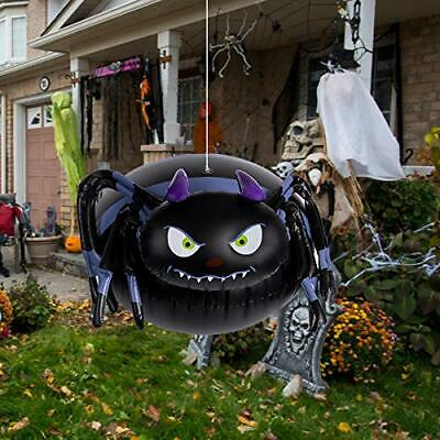 Ueerdand Halloween Inflatable Blow Up Spider, Spooky Airblown Inflatable for Tri