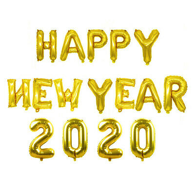 """2020 Happy New Year Number 16"""" Foil Balloons Eve Party Decor Merry Christmas UK"""