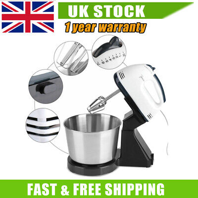 Electric 7 Speed Cake Stand Mixer Food Mixing Bowl Beater Dough Multi Blender