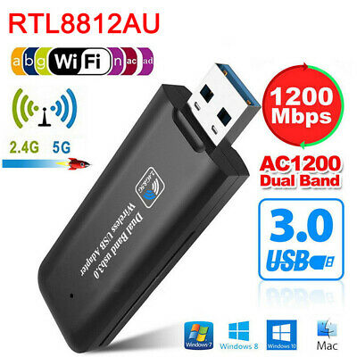 1200Mbps USB 3.0 WiFi Wireless rete ricevitore adattatore 5GHz Dual Band Dongle