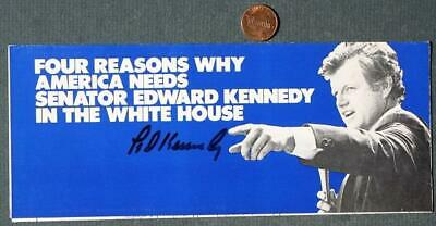 1980 Senator Ted Kennedy for President signed-autographed 4 reasons brochure!*