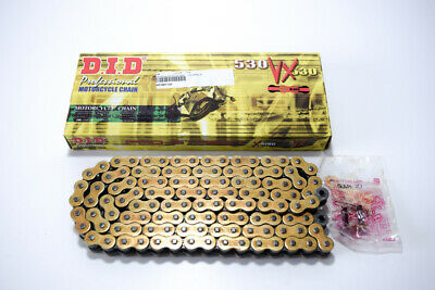 401561120 - Chain Transmission Motorcycle DID 530 VX 5 Gold & Black Length 120