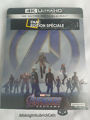 AVENGERS ENDGAME Blu-ray 4k UHD + Bluray collector steelbook Fnac + booklet NEUF