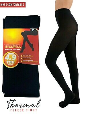 Ladies Women's Girl Winter Warming Fleece Lined Thick Thermal Full Foot Tights