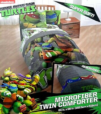 NEW Nickelodeon Teenage Mutant Ninja Turtles Comforter Super Soft Twin/Single