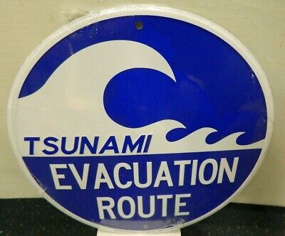 New Metal Alaska Sign   Tsunami Evacuation Route