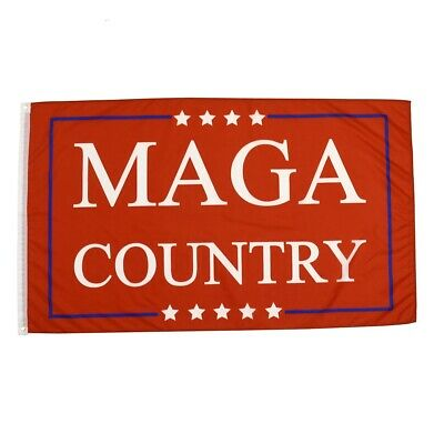 Red 3x5 MAGA Country President Donald Trump Flag 3'x5' Make America Great Banner