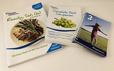 Weight Watchers Ready Set Go Cookbook, Complete Food Companion & 3 Month Journal