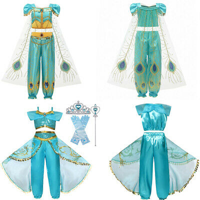 Cosplay Toddler Baby Kids Girls Strap Tops Tulle Tassel Pants Outfits Party Set