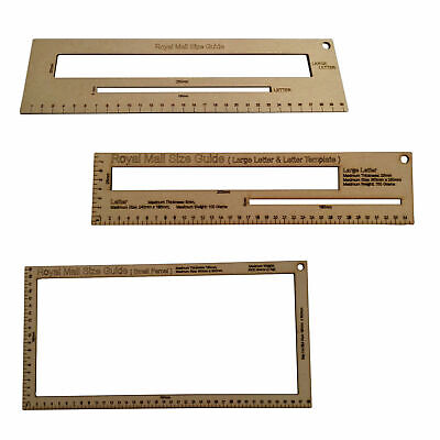 Royal Mail PPI Letter Template Size Guide Postal Price Postage Ruler Post Office