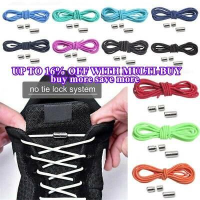 Elastic Silicone No Tie 'Lazy' Shoe Laces Shoelaces Trainers Shoes Adult& Kids.