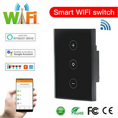WIFI Smart Dimmer Light Control Switch Wall Touch Panel For Alexa Google Home AU