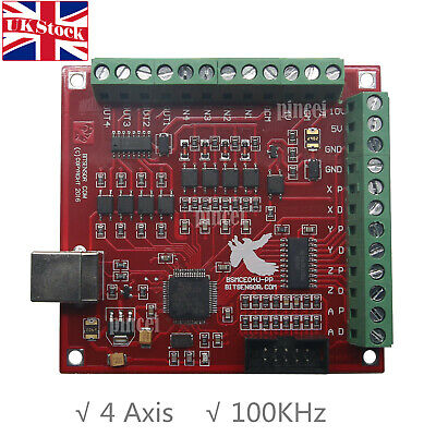 MACH3 4 Axis Breakout Board USB Interface Driver Motion Controller 100Khz CNC UK