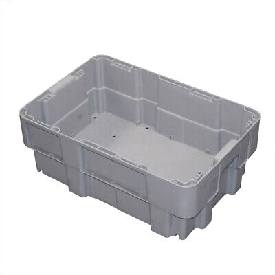 600 x 400 x 220 Euro Stackable Boxes Heavy Duty Plastic Totes Container Crates