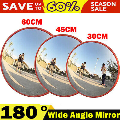 180° Wide Angle View Security Curved Convex Road Mirror Traffic Driveway Safety