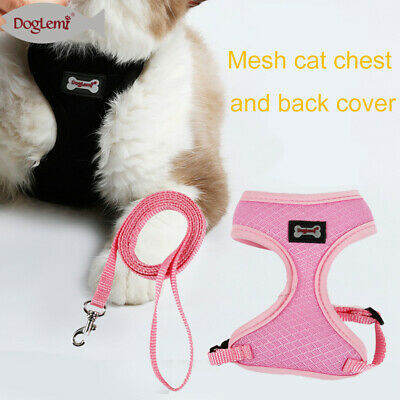 Soft Adjustable Pet Harness Dog Cat Walking Leash Collar Strap Mesh Vest Hot