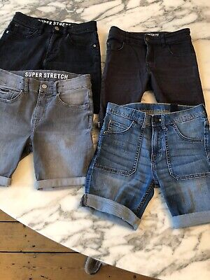 H&M Boys Slim Fit Denim Shorts 4 Pairs 8-9 Yrs Excellent Condition Rrp £59! COOL
