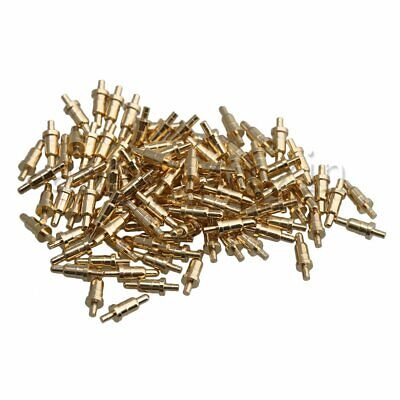 100Pieces Copper Plated Gold Anti-corrosion Pogo Pin for Semiconductor Devices