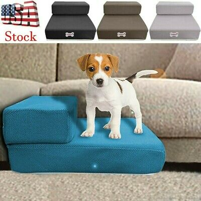 3 Step Extensible Mat Pet Stairs Climb Foldable Dog Ladder Cat Ramp Steps Stair