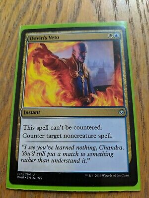 1X NM Dovin/'s Veto War of the Spark MTG Magic The Gathering