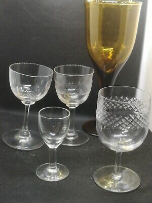 A Collection Of Mid to Late 19th Century Antique Drinking Glasses