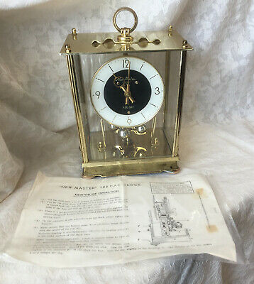 Vintage NEW MASTER 100 DAY ANNIVERSARY CARRIAGE CLOCK - Parts or Repair
