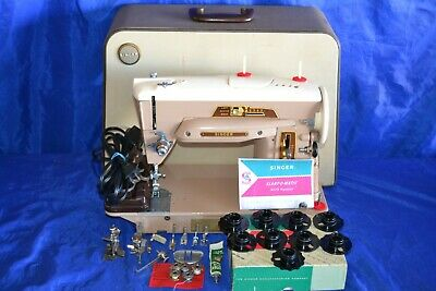 Singer 403 Slant Needle Zig-Zag Sewing Machine Serviced Beauty Cams Quilters