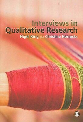 Interviews in Qualitative Research by Christine Horrocks (English) Paperback Boo